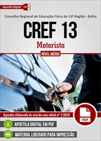 Motorista - CREF - 13ª Região - BA