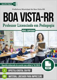 Professor Licenciado em Pedagogia - Prefeitura de Boa Vista - RR