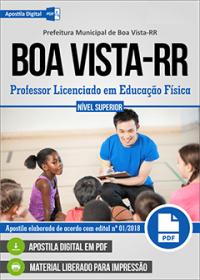 Professor Licenciado em Educação Física - Prefeitura de Boa Vista - RR