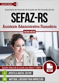 Assistente Administrativo Fazendário - SEFAZ - RS