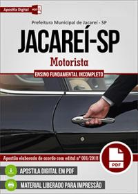 Motorista - Prefeitura de Jacareí-SP