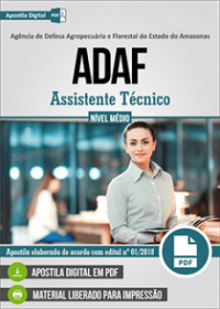 Assistente Técnico - ADAF-AM