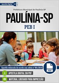 Professor de Educação Básica I - Prefeitura de Paulínia - SP