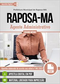 Agente Administrativo - Prefeitura de Raposa - MA