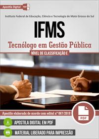 Tecnólogo em Gestão Pública - IFMS