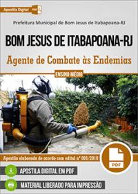 Agente de Combate às Endemias - Prefeitura de Bom Jesus de Itabapoana - RJ