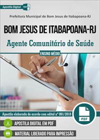 Agente Comunitário de Saúde - Prefeitura de Bom Jesus de Itabapoana - RJ