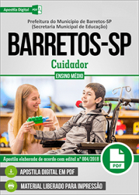 Cuidador - Prefeitura de Barretos - SP