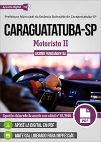 Motorista II - Prefeitura de Caraguatatuba - SP