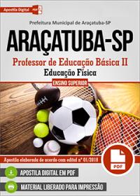 Professor de Educação Básica II - Educação Física - Prefeitura de Araçatuba - SP