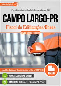 Fiscal de Edificações - Obras - Prefeitura de Campo Largo - PR