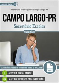 Secretário Escolar - Prefeitura de Campo Largo - PR