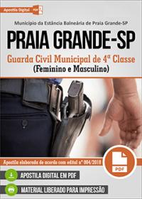 Guarda Civil Municipal de 4ª Classe - Prefeitura de Praia Grande - SP