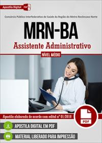 Assistente Administrativo - MRN - BA