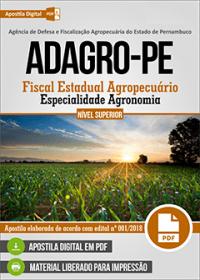 Fiscal Estadual Agropecuário - Especialidade Agronomia - ADAGRO - PE