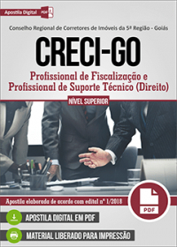 Profissional de Fiscalização e Profissional de Suporte Técnico - CRECI-GO