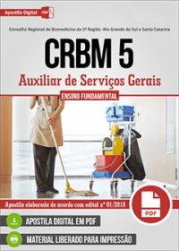 Auxiliar de Serviços Gerais - CRBM 5