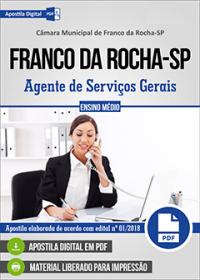 Agente de Serviços Gerais - Câmara de Franco da Rocha - SP