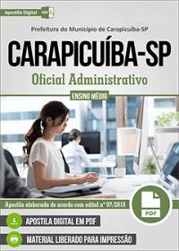 Oficial Administrativo - Prefeitura de Carapicuíba - SP