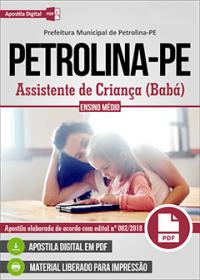 Assistente de Criança - Babá - Prefeitura de Petrolina - PE