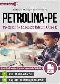 Professor de Educação Infantil - Prefeitura de Petrolina - PE