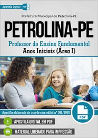 Professor do Ensino Fundamental - Anos Iniciais - Prefeitura de Petrolina - PE