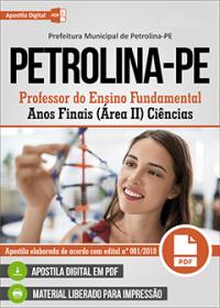 Professor de Ciências - Prefeitura de Petrolina - PE