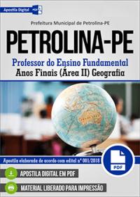 Professor de Geografia - Prefeitura de Petrolina - PE