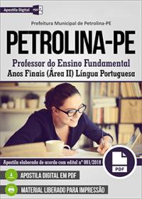 Professor de Língua Portuguesa - Prefeitura de Petrolina - PE