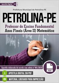 Professor de Matemática - Prefeitura de Petrolina - PE