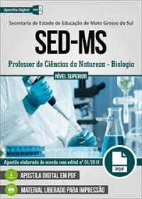 Professor de Ciências da Natureza - Biologia - SED-MS