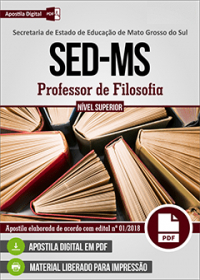 Professor de Filosofia - SED-MS