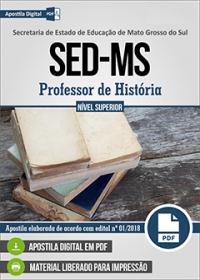 Professor de História - SED-MS