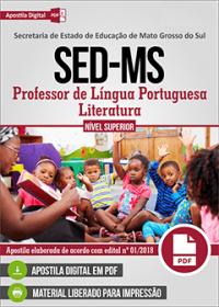 Professor de Língua Portuguesa-Literatura - SED-MS