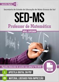 Professor de Matemática - SED-MS
