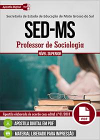 Professor de Sociologia - SED-MS