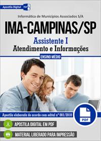 Assistente I - Atendimento e Informações - IMA - Campinas-SP