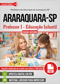 Professor I - Educação Infantil - Prefeitura de Araraquara - SP