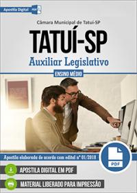 Auxiliar Legislativo - Câmara de Tatuí - SP
