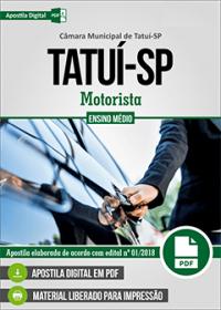 Motorista - Câmara de Tatuí - SP