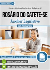 Auxiliar Legislativo - Câmara de Rosário do Catete - SE