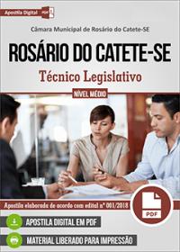 Técnico Legislativo - Câmara de Rosário do Catete - SE