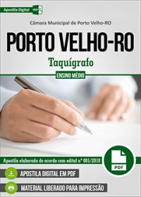 Taquígrafo - Câmara de Porto Velho - RO
