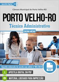 Técnico Administrativo - Câmara de Porto Velho - RO