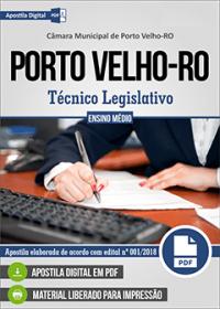 Técnico Legislativo - Câmara de Porto Velho - RO
