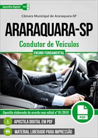 Condutor de Veículos - Câmara de Araraquara - SP