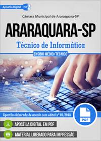 Técnico de Informática - Câmara de Araraquara - SP