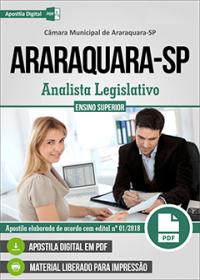 Analista Legislativo - Câmara de Araraquara - SP