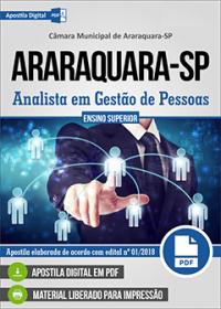 Analista em Gestão de Pessoas - Câmara de Araraquara - SP