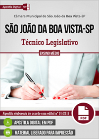Técnico Legislativo - Câmara de São João da Boa Vista - SP